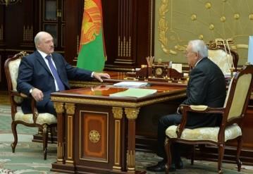 Александр Лукашенко на встрече с Павлом Топузидисом. Фото: пресс-служба президента Беларуси