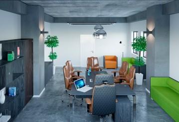Выбираем офисный диван в стиле лофт: практично и незаурядно