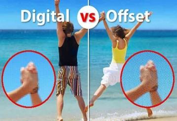 Различия офсетной и цифровой печати