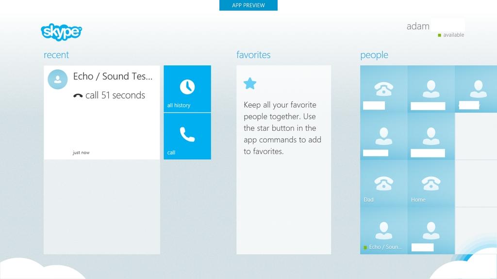 Скриншот нового Skype