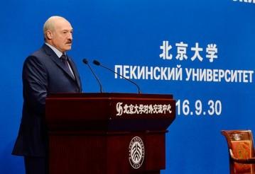 Александр Лукашенко в Пекинском университете, 30 сентября 2016 года. Фото: пресс-служба президента Беларуси