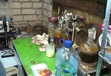 Крупную лабораторию по производству амфетамина выявили в Борисове. фото: uvd-mo.gov.by