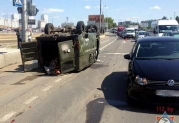 В Минске после столкновения едва не загорелись три автомобиля
