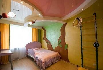 Самый прочный потолок для детской комнаты