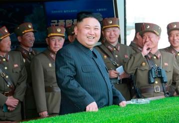 Ким Чен Ын назвал последнее ракетное испытание КНДР «прелюдией» к удару по Гуаму. Фото с сайта gomel.today